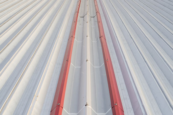 Corrugated metal roofing